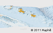 Political Shades Panoramic Map of Îles Loyauté, lighten