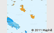 Political Shades Simple Map of Îles Loyauté