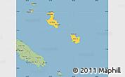 Savanna Style Simple Map of Îles Loyauté