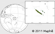Satellite Location Map of New Caledonia, blank outside