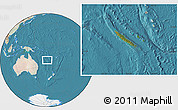Satellite Location Map of New Caledonia, lighten, land only
