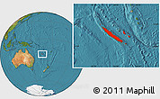 Satellite Location Map of New Caledonia