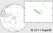 Savanna Style Location Map of New Caledonia, blank outside