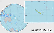 Savanna Style Location Map of New Caledonia, gray outside