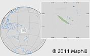 Savanna Style Location Map of New Caledonia, lighten, desaturated