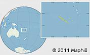 Savanna Style Location Map of New Caledonia, lighten, land only