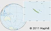 Savanna Style Location Map of New Caledonia, lighten