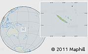 Savanna Style Location Map of New Caledonia, lighten, semi-desaturated