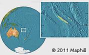 Savanna Style Location Map of New Caledonia, satellite outside