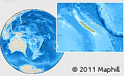Savanna Style Location Map of New Caledonia, shaded relief outside