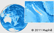Shaded Relief Location Map of New Caledonia, lighten, land only