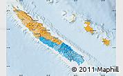 Political Map of New Caledonia, lighten