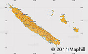 Political Shades Map of New Caledonia, cropped outside