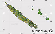 Satellite Map of New Caledonia, cropped outside