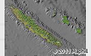 Satellite Map of New Caledonia, desaturated