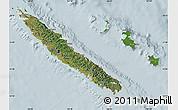 Satellite Map of New Caledonia, lighten