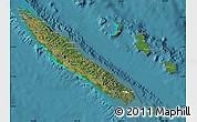 Satellite Map of New Caledonia, physical outside, satellite sea