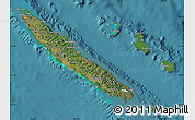 Satellite Map of New Caledonia, political outside, satellite sea
