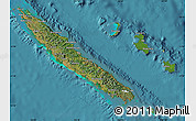 Satellite Map of New Caledonia, shaded relief outside, satellite sea