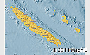 Savanna Style Map of New Caledonia, single color outside
