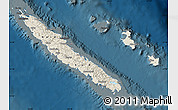 Shaded Relief Map of New Caledonia, darken