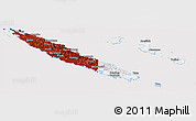 Flag Panoramic Map of New Caledonia, flag aligned to the middle