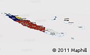 Flag Panoramic Map of New Caledonia, flag rotated