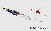 Flag Panoramic Map of New Caledonia
