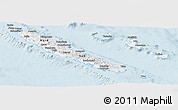 Gray Panoramic Map of New Caledonia