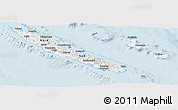 Gray Panoramic Map of New Caledonia, single color outside