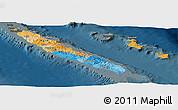 Political Panoramic Map of New Caledonia, darken