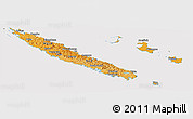 Political Shades Panoramic Map of New Caledonia, cropped outside