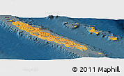 Political Shades Panoramic Map of New Caledonia, darken