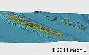 Satellite Panoramic Map of New Caledonia, physical outside, satellite sea