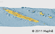 Savanna Style Panoramic Map of New Caledonia