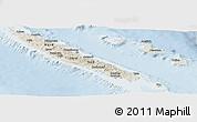 Shaded Relief Panoramic Map of New Caledonia, lighten