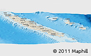 Shaded Relief Panoramic Map of New Caledonia