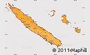 Political Shades Simple Map of New Caledonia, cropped outside