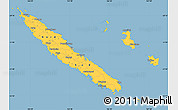 Savanna Style Simple Map of New Caledonia, single color outside