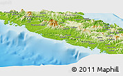 Physical Panoramic Map of Bourail