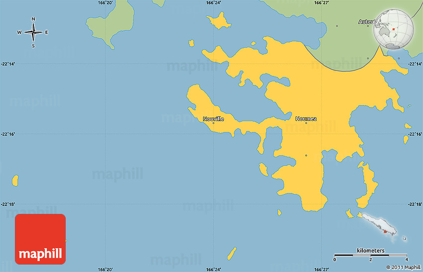 Savanna Style Simple Map of Nouma