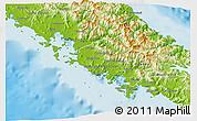 Physical 3D Map of Païta