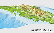 Physical Panoramic Map of Païta