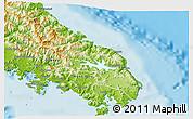 Physical 3D Map of Yaté