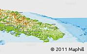 Physical Panoramic Map of Yaté