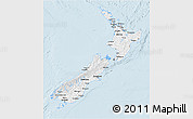 Classic Style 3D Map of New Zealand