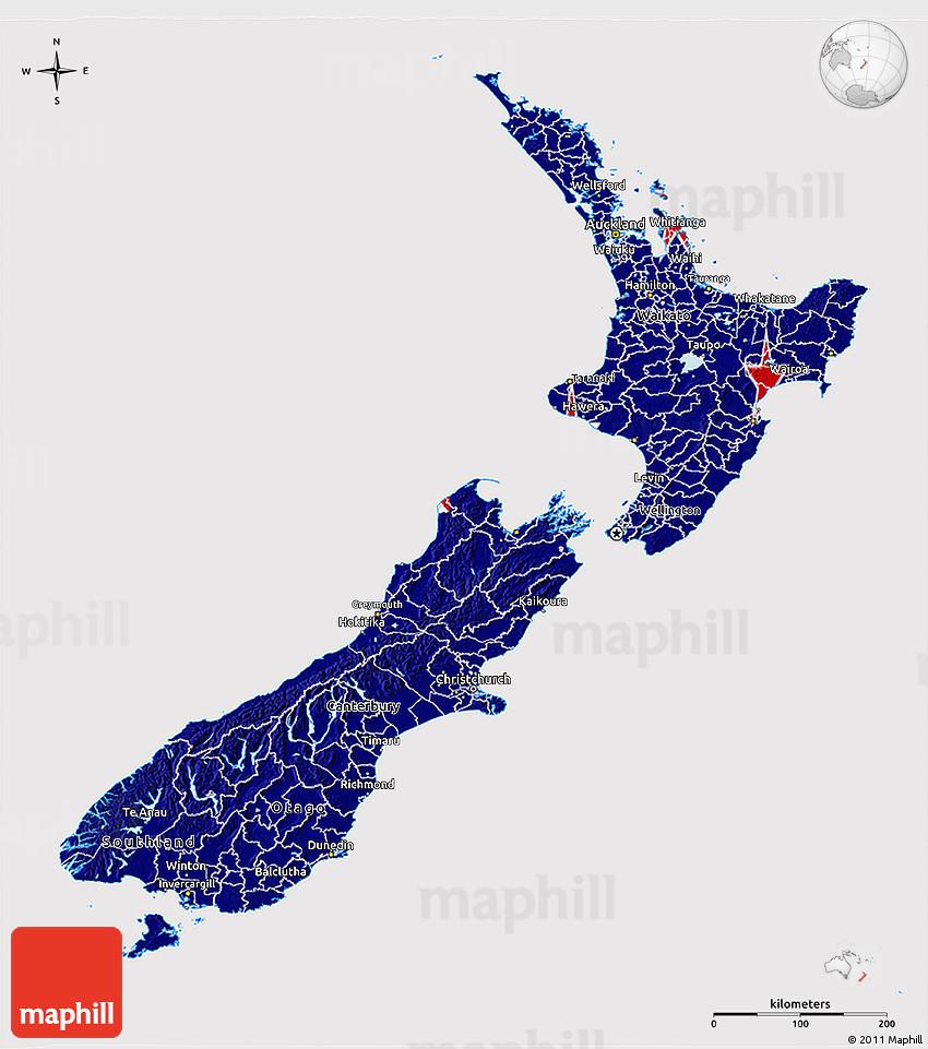 3d Map Of New Zealand.Flag 3d Map Of New Zealand