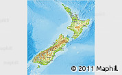 Physical 3D Map of New Zealand, satellite outside, shaded relief sea