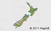 Satellite 3D Map of New Zealand, cropped outside