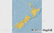 Savanna Style 3D Map of New Zealand